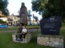 Lelów - Pomnik Kazimierza Wlk. i obelisk upamietniający 800 lecie wsi.