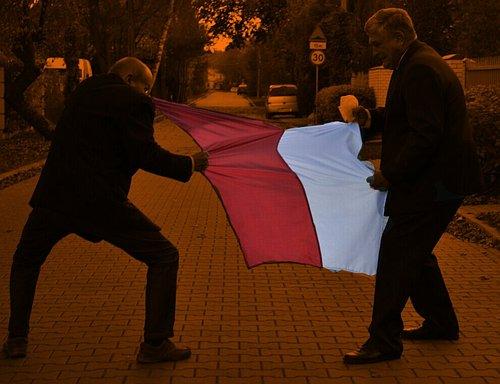 Rozrywanie flagi