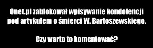 Bartoszewski kondolencje
