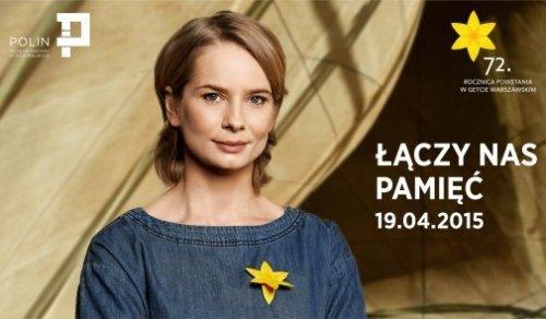 "Magdalena Cielecka, ambasadorka akcji ""Żonkile""."