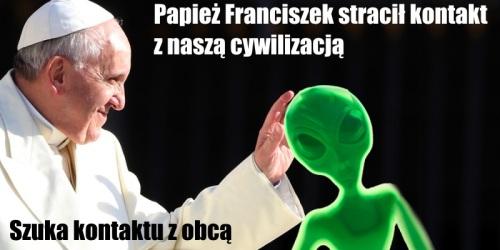 Papiez i alien