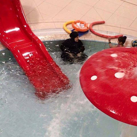 Ciapata w basenie